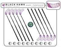 Florbalový set MPS BLACK HAWK Purple