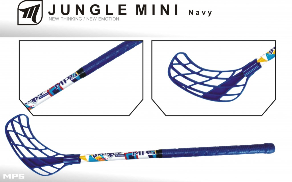 Florbalová hokejka MPS JUNGLE MINI - navy
